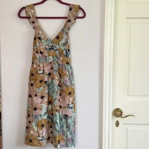 Theory silk floral print dress
